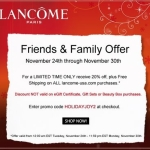Lancome Friends & Family Event!