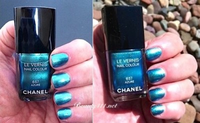 CHANEL Azure swatches