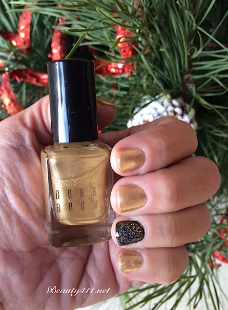 Bobbi Brown Solid Gold Nail Polish swatch