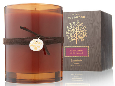 Thymes Black Currant-Birchwood-Candle