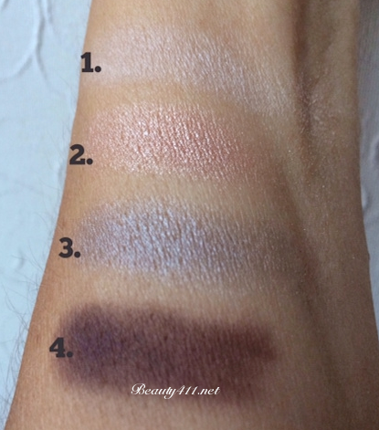 bareMinerals Glamour Now READY eyeshadows-swatches