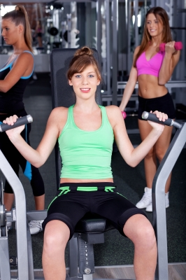 Girl working out image