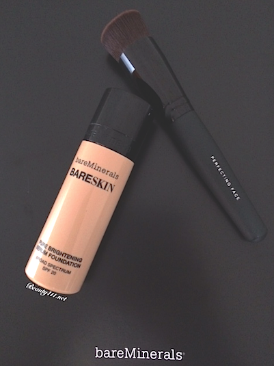 bareMinerals BareSkin Serum Foundation SPF 20 and Perfecting Face Brush