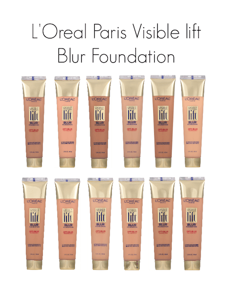 LOreal Paris Visible Lift Blur Foundation Shade Chart