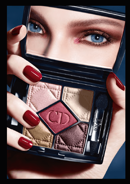 Dior 5-Couleur Eyeshadow Collection -model