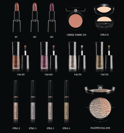 Giorgio Armani Beauty Pack Shots - Fall 2014