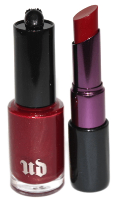Urban Decay Nail Color and Revolution Lipstick