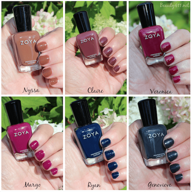 Zoya ENTICE Collection swatches