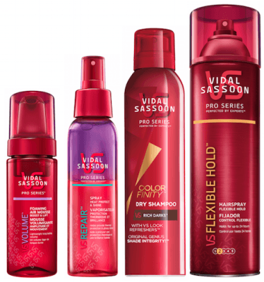 Vidal Sassoon Pro Series hair products