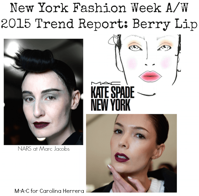 NYFW Trend Report - Berry Lip AW 2015