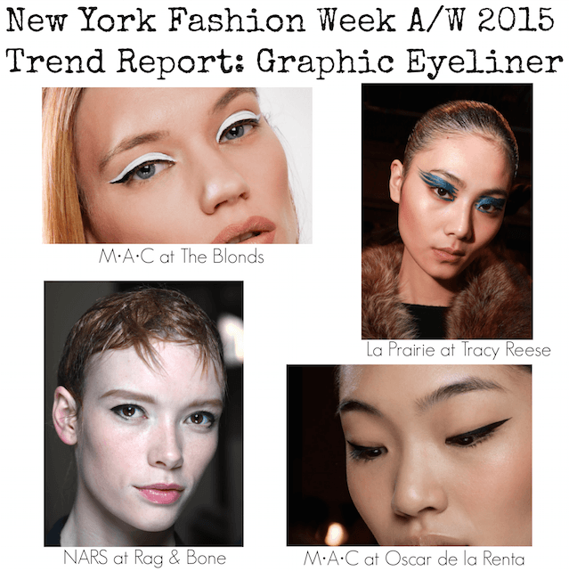 NYFW Trend Report - Graphic eyeliner- A:W 2015