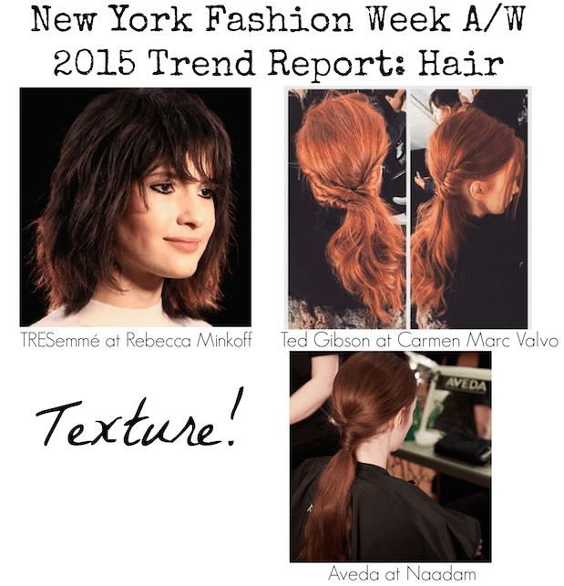 NYFW Trend Report - Hair - A:W 2015