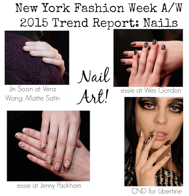 NYFW Trend Report - Nail Art - A:W 2015