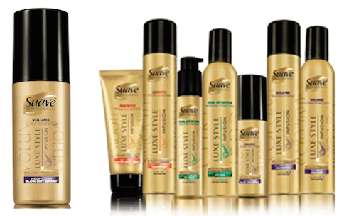 Suave Professionals Luxe Style Infusion Volumizing Collection lineup