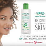 Get a better cleanse with NEW Simple® Micellar Water at Target!