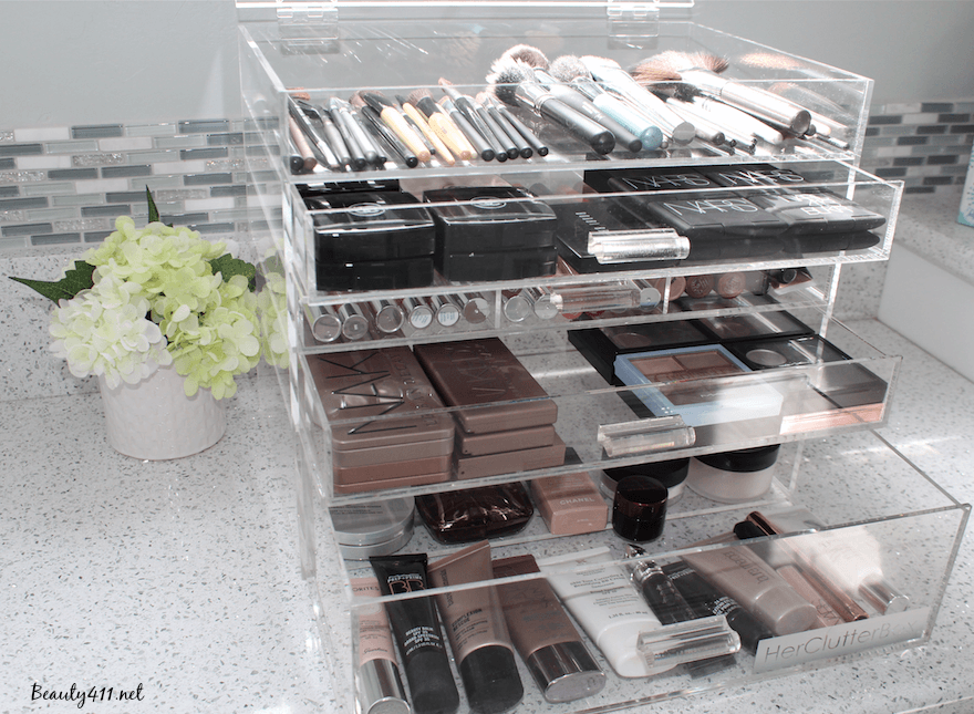 HerClutterbox makeup storage and organization system