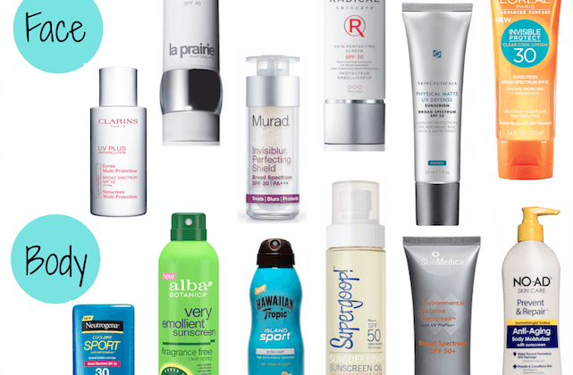 Top Sunscreens for Face - Body 2015