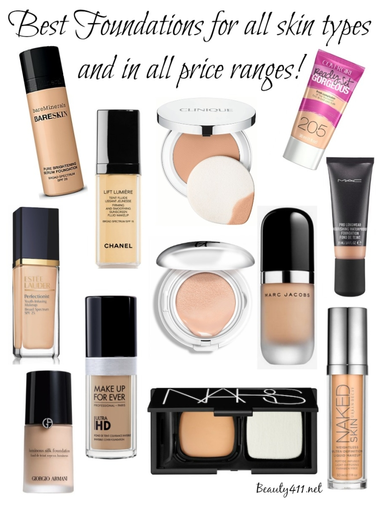 Best foundations for all skin types