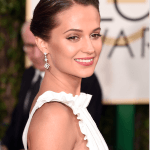 Backstage Beauty:  Alicia Vikander at the Golden Globe Awards