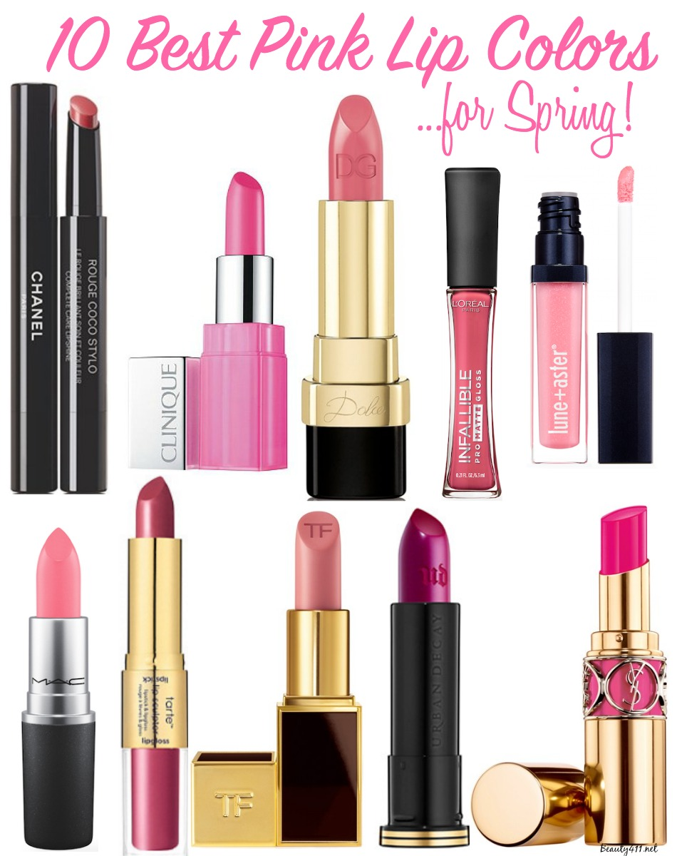 10 Best Pink Lip Colors for Spring