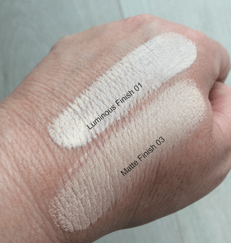 Fiona Stiles Beauty Foundation swatches