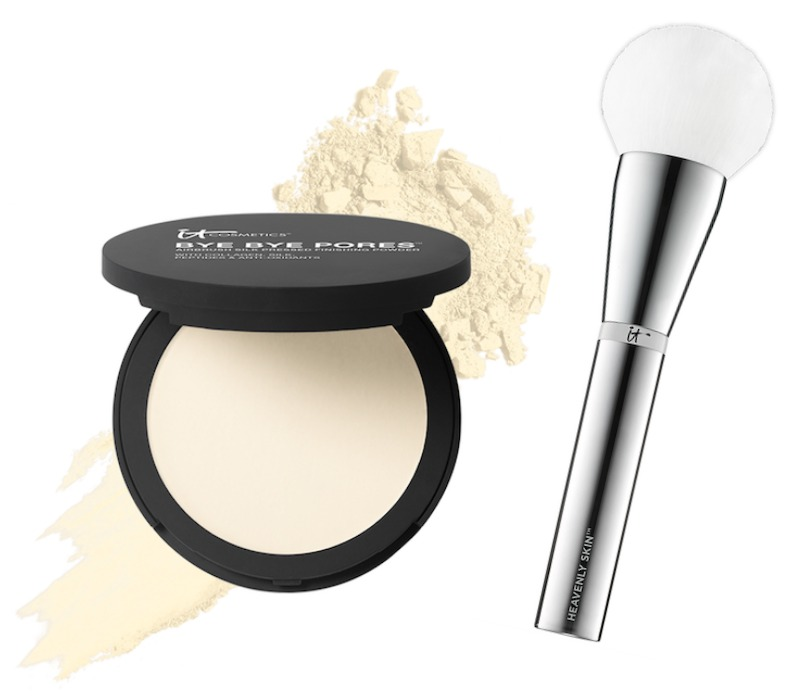 IT Cosmetics Bye Bye Pores Powder and Heavenly Luxe Brush