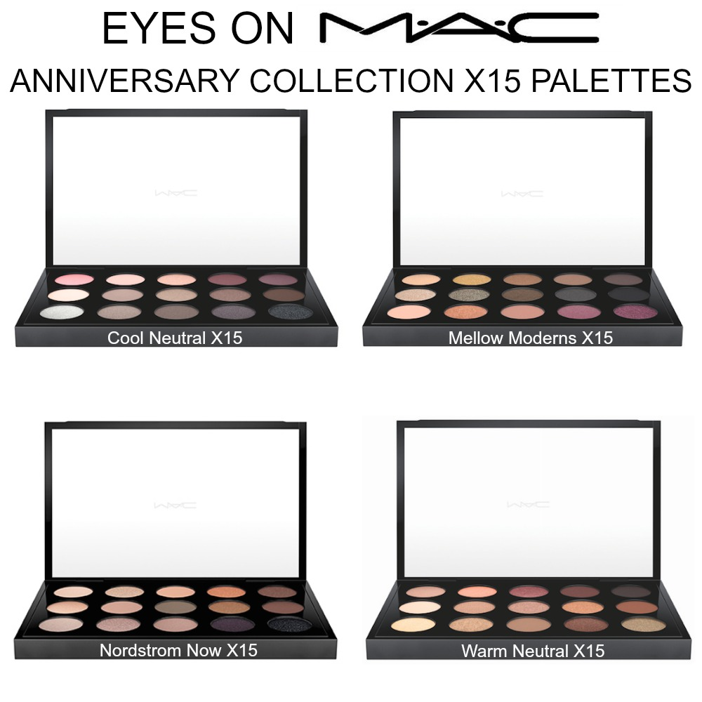 MAC Eyes on MAC Anniversary X15 Palettes