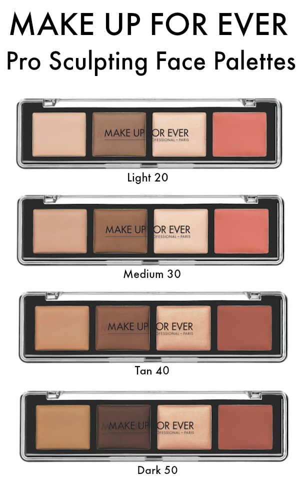 MAKE UP FOR EVER Pro Sculpting Face Palette shades