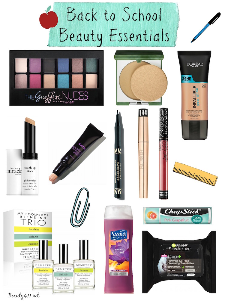 Back to School Beauty Essentials 2016