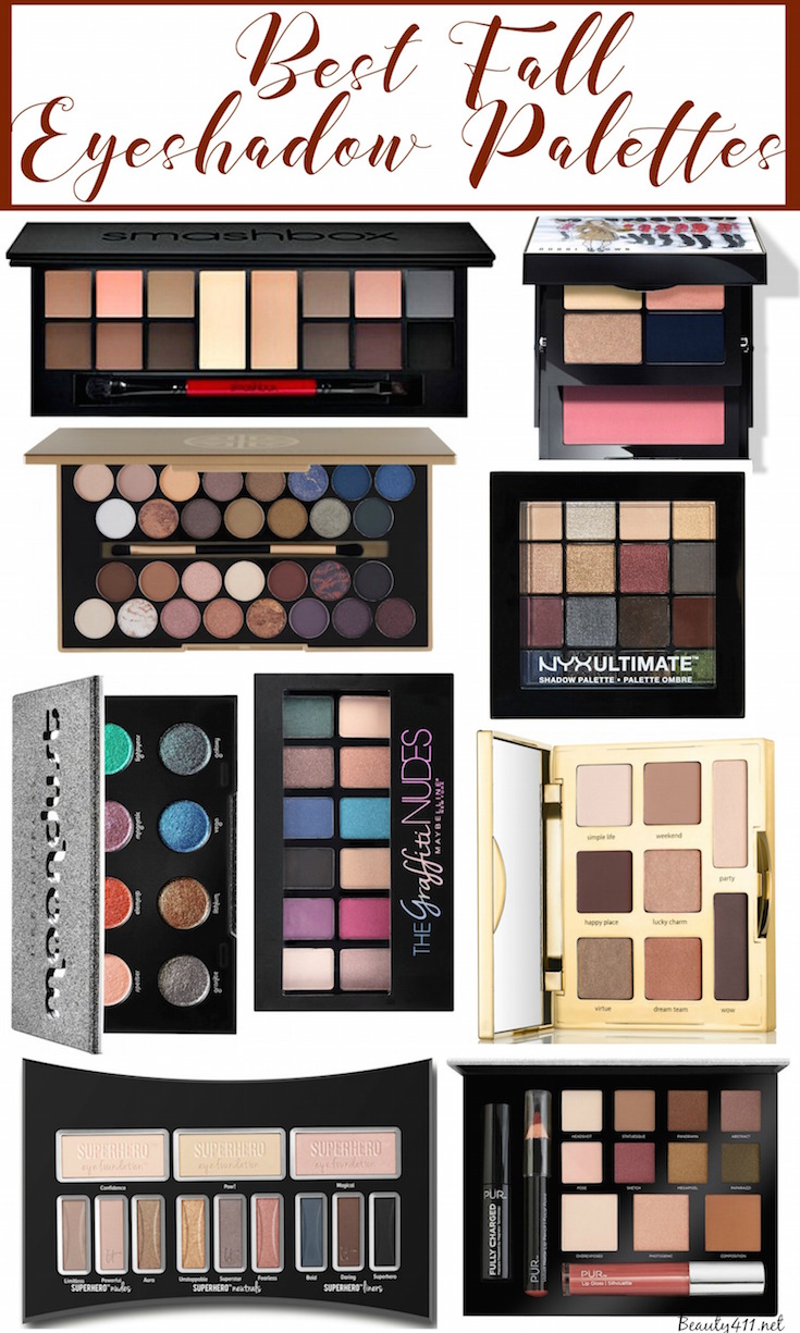 Best Eyeshadow Palettes for Fall 2016