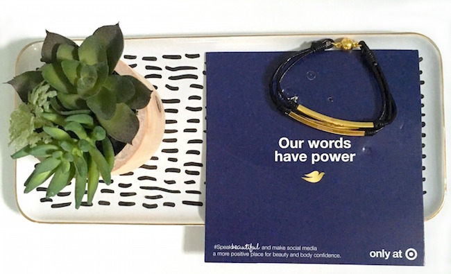 Dove SpeakBeautiful bracelet GWP