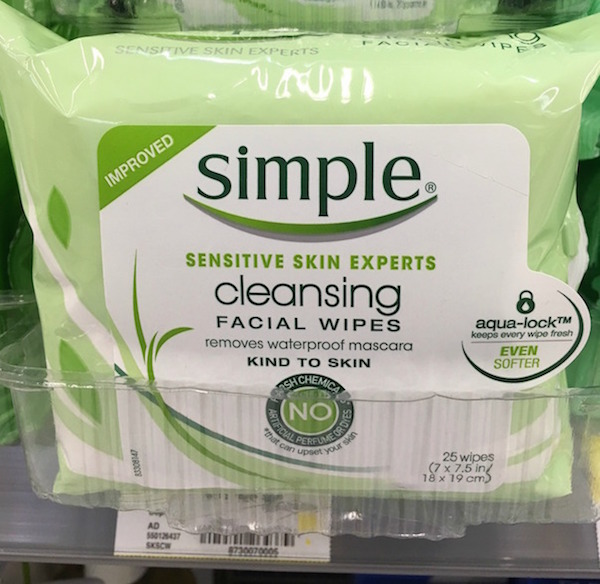 Simple Cleansing Facial Wipes_instore